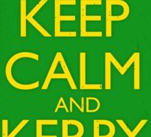 Keep Calm & Kerry On (grunge) Sticker