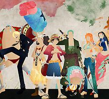 Straw Hat Crew - One piece by doubleu42