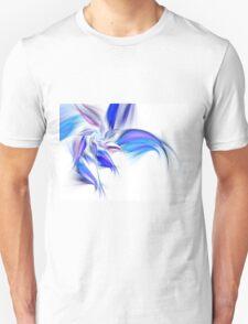 Blue Flower - Abstract Fractal Artwork Unisex T-Shirt