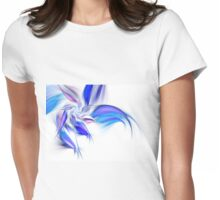 Blue Flower - Abstract Fractal Artwork Womens Fitted T-Shirt