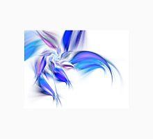 Blue Flower - Abstract Fractal Artwork Womens Fitted T-Shirt