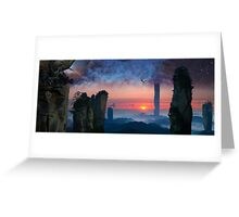 Rock Tower World - dreamscape illustration Greeting Card
