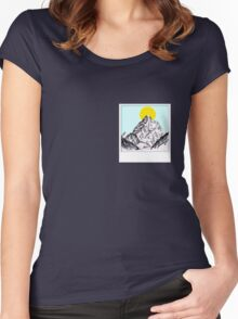 Mountain Sun Rise Polaroid  Women's Fitted Scoop T-Shirt