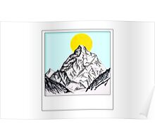 Mountain Sun Rise Polaroid  Poster