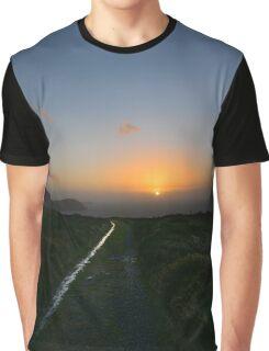 Walk along the coast at Eary Cushlin - photography Graphic T-Shirt