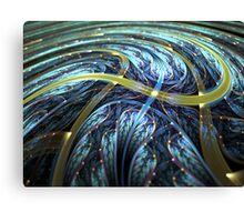 Blue Spiral - Abstract Fractal Artwork Canvas Print