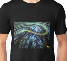 Blue Spiral - Abstract Fractal Artwork Unisex T-Shirt