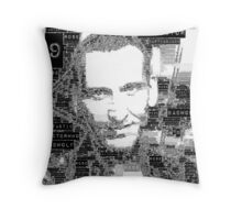 9th doctor word art Throw Pillow