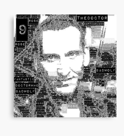 9th doctor word art Canvas Print
