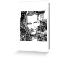 9th doctor word art Greeting Card