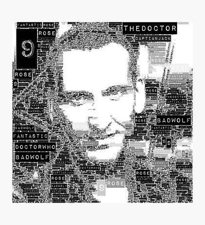 9th doctor word art Photographic Print