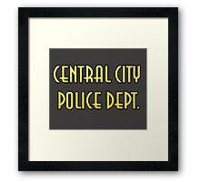 CENTRAL CITY PD Framed Print