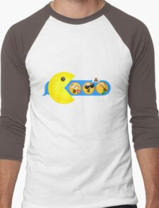 Hungry hungry Pacman Men's Baseball ¾ T-Shirt