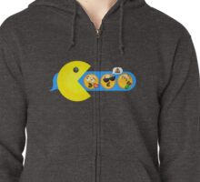 Hungry hungry Pacman Zipped Hoodie
