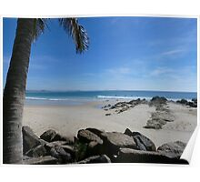 Snapper Rocks Autumn Surfers Poster