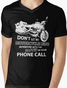 Custom Motorcycle White Mens V-Neck T-Shirt