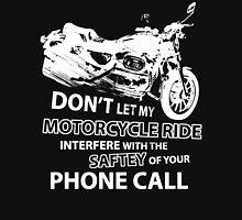 Custom Motorcycle White Unisex T-Shirt