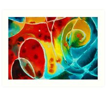 Pure Joy 1 - Abstract Art By Sharon Cummings Art Print