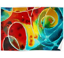 Pure Joy 1 - Abstract Art By Sharon Cummings Poster