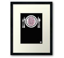 Brains for Dinner Framed Print