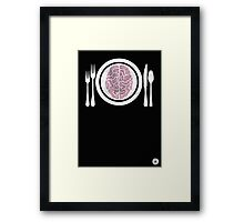 Brains for Dinner Framed Print