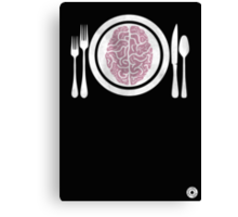 Brains for Dinner Canvas Print
