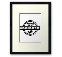 World's best graphic artist Framed Print