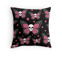 The Monarch Skull Throw Pillow