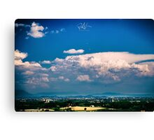 summer day in the countryside Canvas Print
