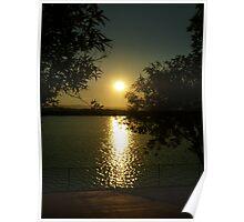 Autumn Lake Sunset Poster