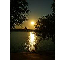 Autumn Lake Sunset Photographic Print
