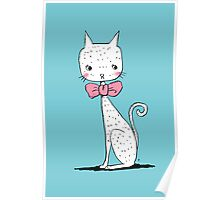 Cat with a ribbon Poster
