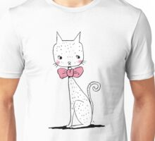 Cat with a ribbon Unisex T-Shirt