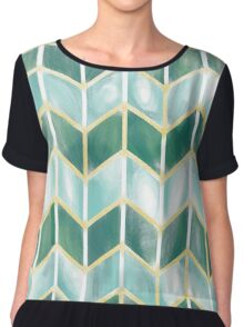 Chevron - Forest Mist Chiffon Top