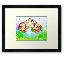 Kirby and Robobot Framed Print