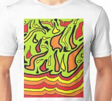 Layered Flames Unisex T-Shirt