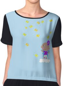 Ananda The Fairy Baby - Playing with Butterflies Chiffon Top