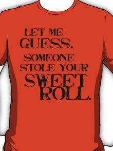 Sweetroll 1 Black for Tanktop, V-neck, scoop neck. T-Shirt