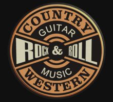 Country Western Rock&roll Kids Tee