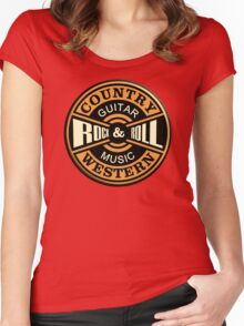 Country Western Rock&roll Women's Fitted Scoop T-Shirt
