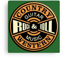 Country Western Rock&roll Canvas Print