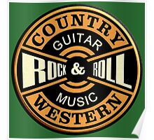Country Western Rock&roll Poster