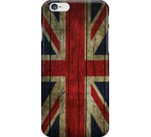UK Flag - Wood iPhone Case/Skin