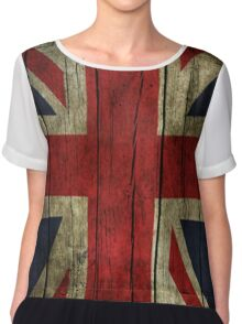 UK Flag - Wood Chiffon Top