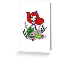 Punk Mermaid by Lolita Tequila Greeting Card