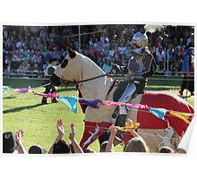 The Champion is Cheered at Medieval Fayre Poster