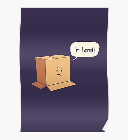 Card-Bored Poster