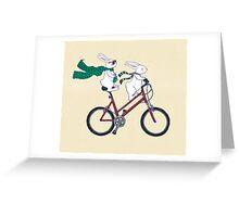 biking bunnies  Greeting Card