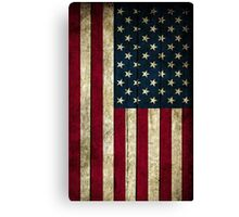 USA Flag - Wood Canvas Print