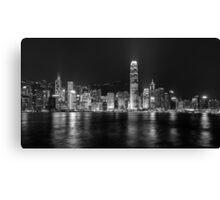 Monochrome Hong Kong  Canvas Print